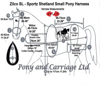 Zilco SL Sportz Harness Sizing Guide