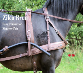 Zilco Brun Horse Harness Single and Pair