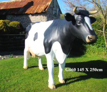 Life Size Cow Black and White