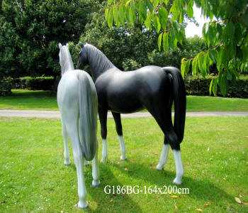 Life Sized Mannequin Horse Large Plastic Resin Model Ponies