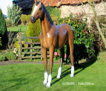 Life Size Brown Horse Model G186BR