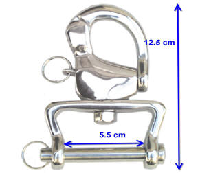Carriage Driving Wide U Part  Snap Shackles