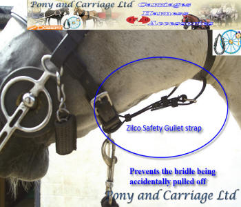 carriage driving bridle saftey strap