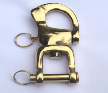 Brass Snap Shackles