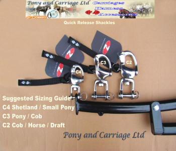 Carriage Driving Safety Snap Shackles