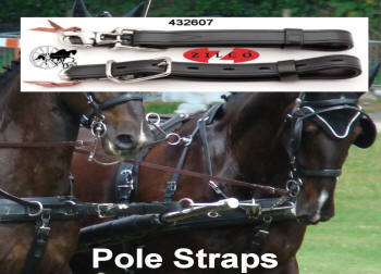 Carriage Driving Team Pair Pole Straps Miniature Shetland Pony